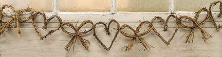 Heart & Bow Grapevine Garland