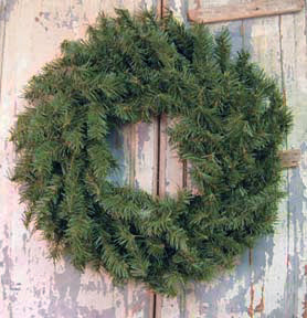 "Canadian Pine Wreath - 24""Old Time ShoppeWinter"