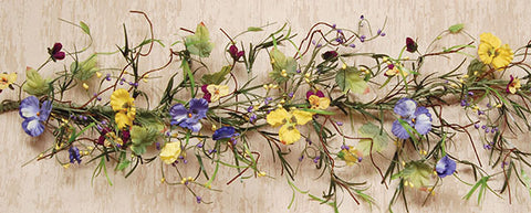 Mixed Pansy Garland - 5 Foot