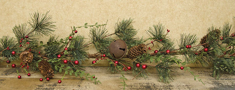 Red Berry Pine Garland - 4ftOld Time ShoppeWinter