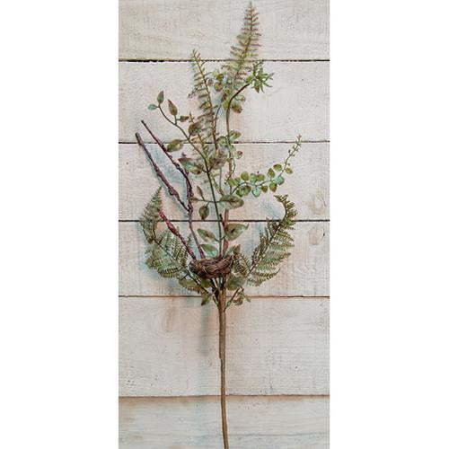 "Green Fern Spray, 24""Old Time ShoppeGreen"