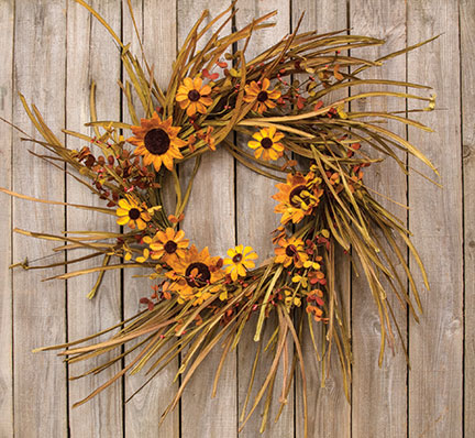 Grassy Sunflower WreathOld Time ShoppeFall