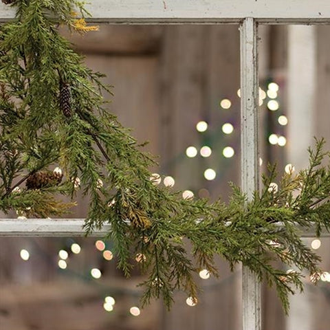 Prickly Pine Garland, 6ftOld Time ShoppeGreen