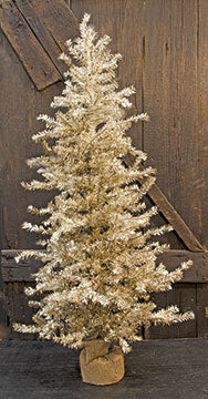 Antique Silver Pine Tree - 48