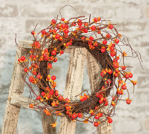 "Bittersweet & Vine Wreath, 6""/14""Old Time ShoppeFall"