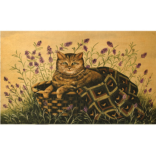 Cat in Basket Floor Mat - Old-Time-Shoppe