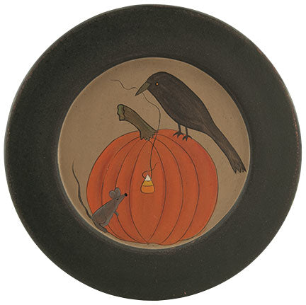 Crow & Mouse Pumpkin Plate - Old-Time-Shoppe