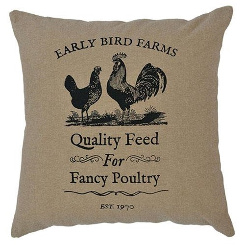 "Fancy Poultry Pillow, 16""Old Time Shoppe"