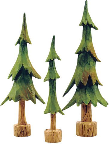 3/Set, Resin Pine TreesOld Time Shoppe