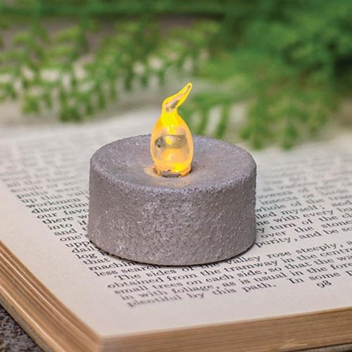 Cement Look Timer Tealight - Old-Time-Shoppe