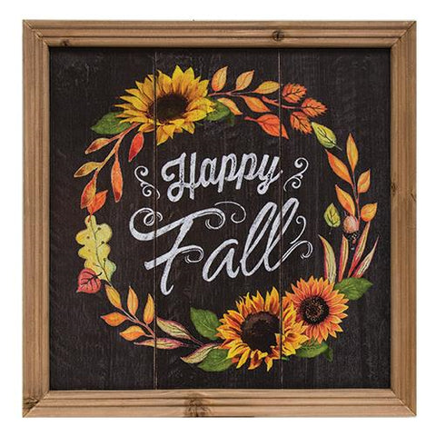 Happy Fall Framed Sign