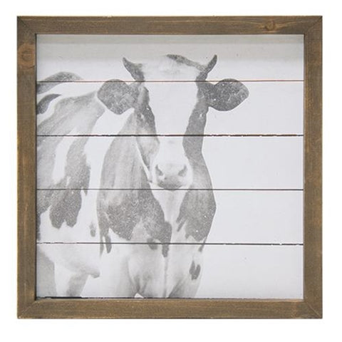 Simply Farmhouse Cow Sign - 10'' x 10''