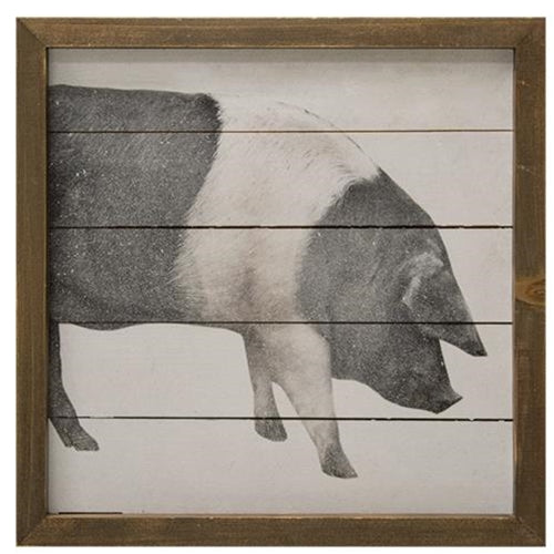 Simply Farmhouse Pig Sign - 10'' x 10''Old Time Shoppe