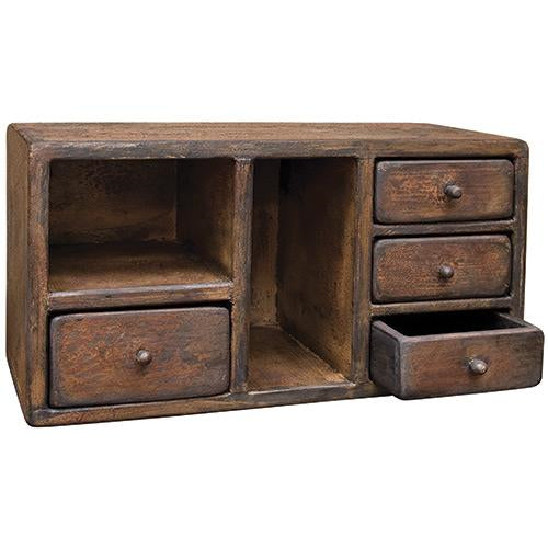 Aged Four Drawer CabinetOld Time Shoppe