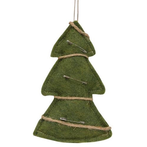 Fabric Christmas Tree Ornament, 6 inch