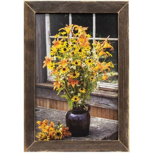 Wildflower Window Framed Print, 12x18
