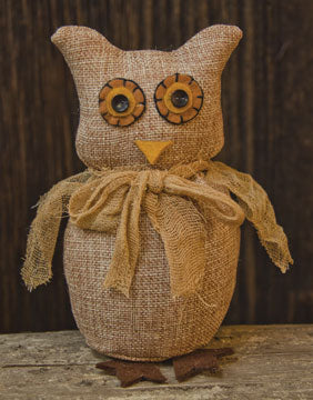 Burlap Owl - Old-Time-Shoppe
