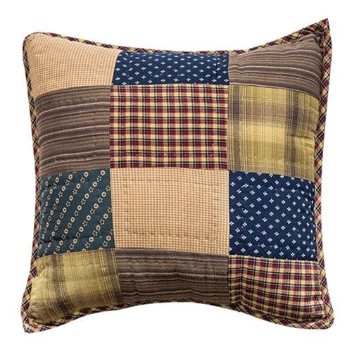 "Patriotic Patch Pillow, 16""Old Time Shoppe"