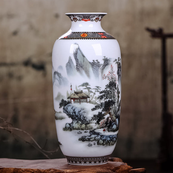 Vintage Chinese Style VaseOld Time Shoppe