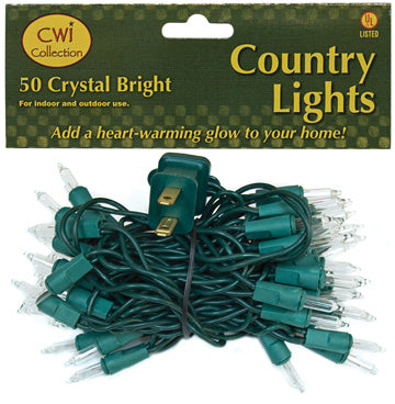 Light Set, Green Cord, 50ctOld Time Shoppe