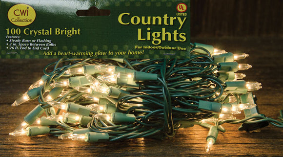 Light Set, Green Cord, 100ctOld Time Shoppe