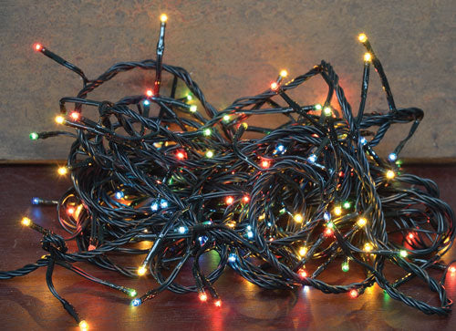 Multicolor Twinkle Lights, 140 CtOld Time Shoppe