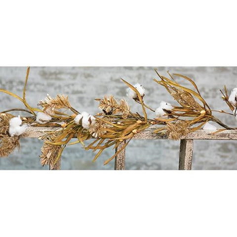 Cotton & Fall Grass Garland 5ft - Old-Time-Shoppe