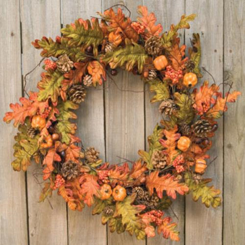 Harvest Leaves Wreath - 20""