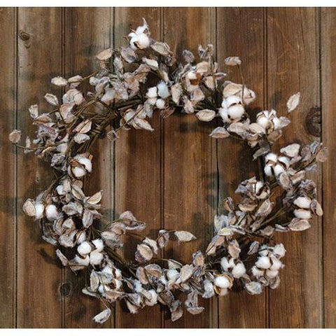 "Cotton Ball Wreath, 20"" - Old-Time-Shoppe"