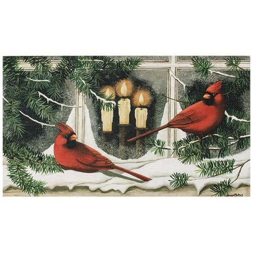 Cardinals in Window Mat Insert - Old-Time-Shoppe