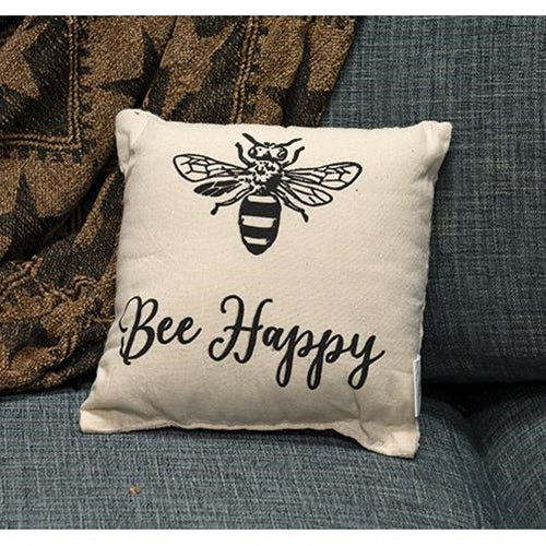 Bee Happy Pillow, 10 x 10Old Time Shoppe