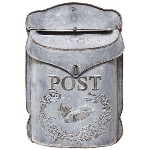 Galvanized Metal Post BoxOld Time Shoppe