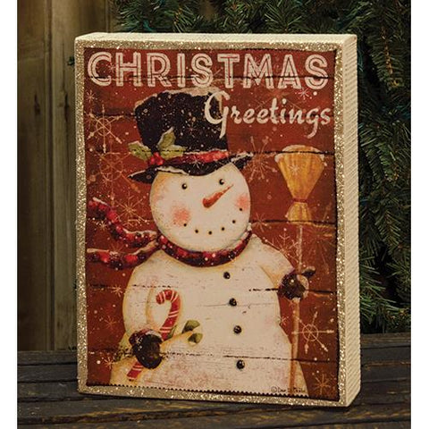 Christmas Greetings Box SignOld Time Shoppe