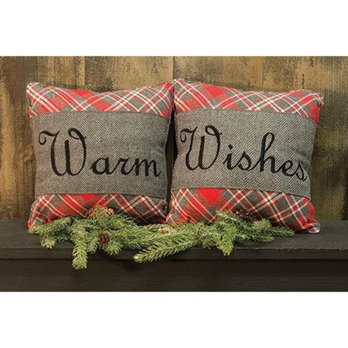 "2/Set, Anderson Warm Wishes Pillows, 12""Old Time Shoppe"