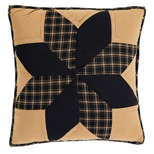 "Dakota Star Quilted Pillow, 16""Old Time Shoppe"