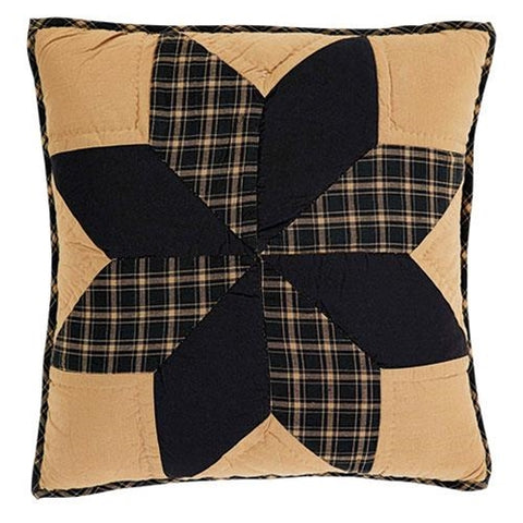 "Dakota Star Quilted Pillow, 16"" - Old-Time-Shoppe"