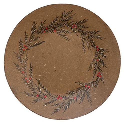 Pine Wreath PlateOld Time ShoppeWinter