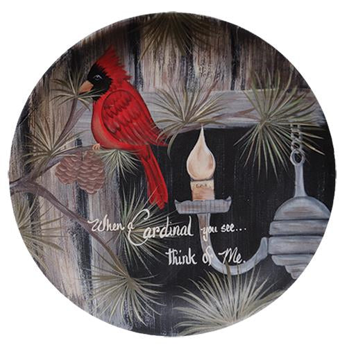 Cardinal You See PlateOld Time ShoppeWinter