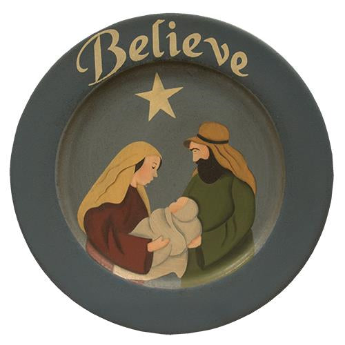 Believe Nativity Plate - Old-Time-Shoppe