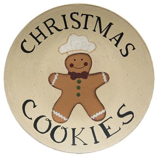 Christmas Cookies Plate - Old-Time-Shoppe