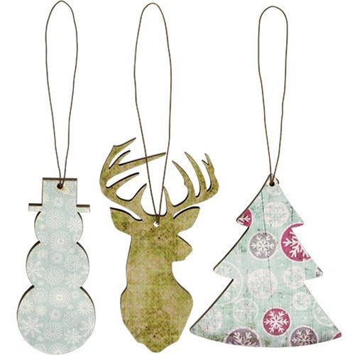 3/Set, Wintertime Ornaments - Old-Time-Shoppe