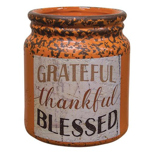Grateful/Thankful/Blessed Crock