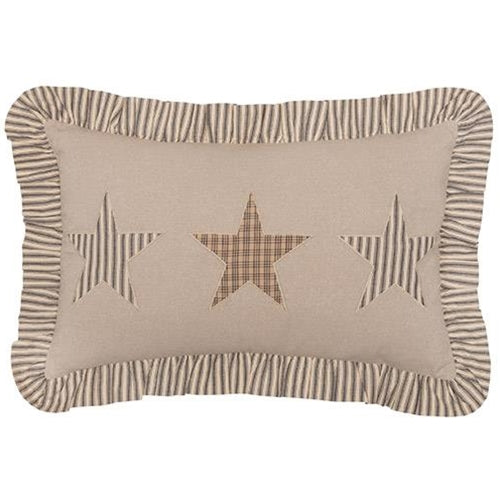 "Star Charcoal Star Pillow, 14"" x 22""Old Time Shoppe"