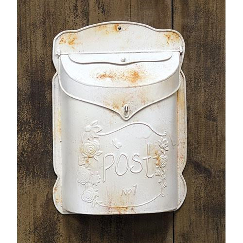 Rustic White Post BoxOld Time Shoppe