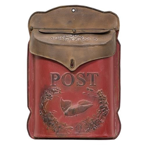 Red & Rust Post Box