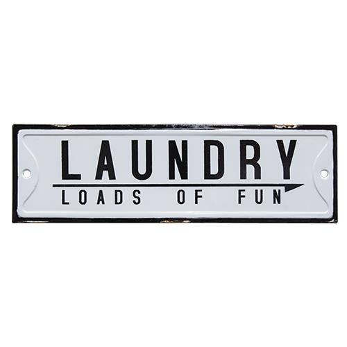 "Loads of Fun Laundry Sign, 20""Old Time Shoppe"