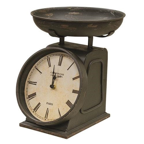 Vintage Scale ClockOld Time ShoppeTable Clocks