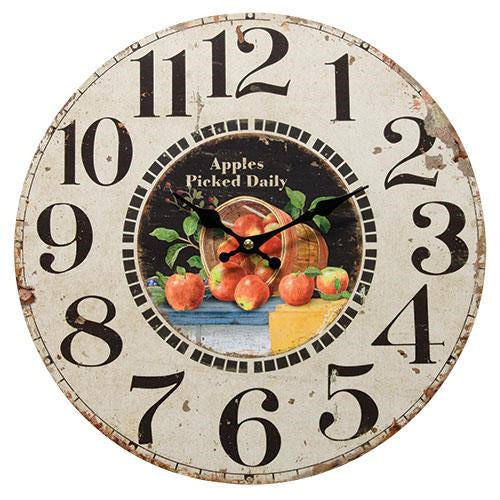 Apples Picked Daily Clock - Old-Time-Shoppe