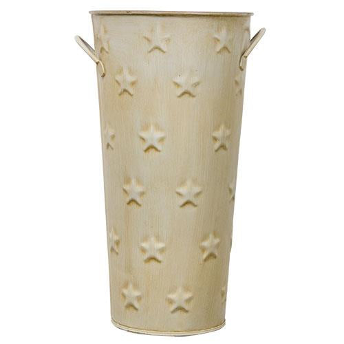 Cream Flower BucketOld Time Shoppe