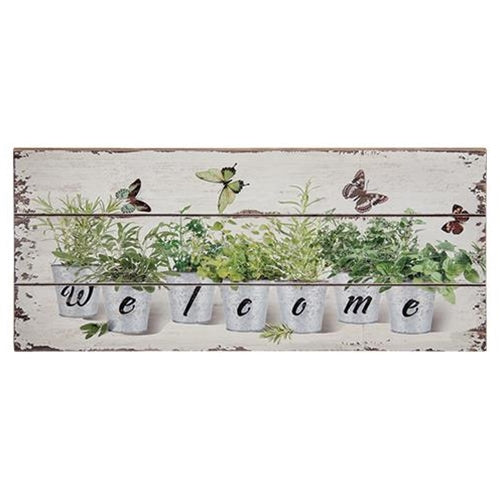 Floral Welcome SignOld Time Shoppe